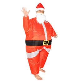 Aufblasbare verschleiß online-Santa Claus Inflatable Suit 3 Designs Weihnachtsmann Cosplay Kostüm Weihnachtstag Street Performance Wear 2 Sets ePacket