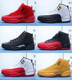 buy online d155a 3e9e4 2019 Nouveaux Hommes 12 Chaussures De Basket-ball En Daim Rétro Rétro  Hommes 12 Bleu En Daim Bleu Profond Royal Sneakers Taille US 7-13  chaussures royal ...