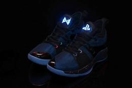 acender sapatos tamanho 13 Desconto (Light UP) Frete Grátis Paul George 2 Playstation Azul Sapatos de Escalada Dos Homens PG 2 Playstation Sapatos Tamanho EUA 7-13 Com Caixa