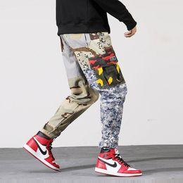 c7837f399f85 Camo Cargo Pants 2019 Mens Fashion Baggy Tactical Trouser Hip Hop Casual  Cotton Multi Pockets Camouflage Pants