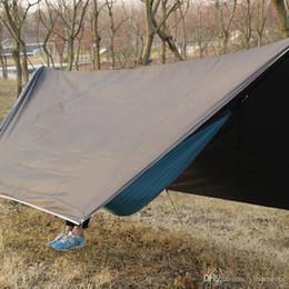 Barraca de dossel grátis on-line-Frete Grátis Ao Ar Livre Portátil Multi-purpose Canopy Hammock Protetor Solar À Prova D 'Água Sombra Toldo Barraca de Rede Dossel