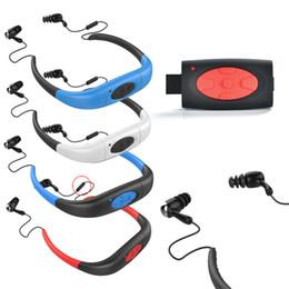 lettore radio di nuoto Sconti 4/8 / 16GB MP3 impermeabile IPX8 lettore musicale Underwater Sports Neckband Nuotare Immersione con radio FM auricolare stereo mp3 cuffie
