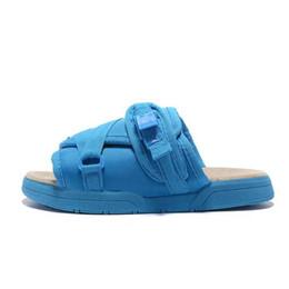 Homens chinelos praia casual on-line-Marca Designer de Moda Chinelos Sapatos Homem Sapatos Casuais Chinelos Sandálias de Praia chinelos Interior Hip-hop Mulheres Rua Visvim Designer Sandálias