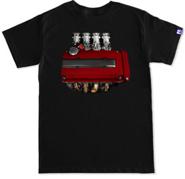 series engines Promo Codes - B Series Itb Jdm B16 B18 Civic Integra Type R Valve Cover Engine Motor T Shirt 2019 New Men T-Shirt Loose Clothes Tees