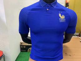 Jogador longo on-line-Jogador Versão France 100 anos Jersey de futebol MBAPPE 100º centenário 2019 2020 GRIEZMANN KANTE 19 20 camisa de futebol de manga longa Maillot