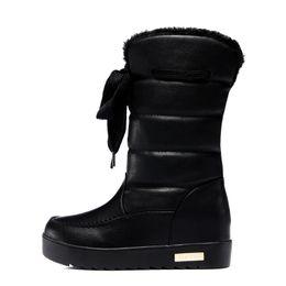 b2124d1c44a25c 2019 schwarze warme stiefel für frauen Frauen Schwarz Braun Rosa Mode  Schnee Stiefel Neue Populäre Warme