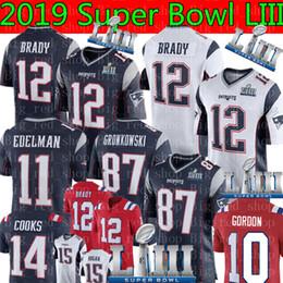 2019 harrison jersey Patriots 12 Tom Brady Jersey Hombre 10 Josh Gordon 87 Rob Gronkowski 11 Julian Edelman 14 Cocineros 15 Hogan 92 Camisetas de fútbol Harrison harrison jersey baratos