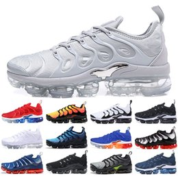 summer brand shoes Promo Codes - Best TN Plus Men Running Shoes Wolf Grey Sunset Ultra White Black Triple Black Designer Brand Sports Sneakers Cheap US 5.5-11