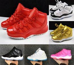 Gum 11 zapatos de baloncesto de la nueva manera Retro11s marino Blanco Rojo niños AJordan11 confitura de cítricos GS de baloncesto zapatillas de deporte para niños 11 Zapatos al aire libre desde fabricantes