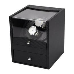 abb7b1aab50 Relógio automático Winder Para Caixa De Relógio Mecânico Titular Display  Winding Jóias Armazenamento Relógios Caixa Caixa De Fibra De Carbono  Presente Novo ...