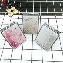 2019 косметический карман Vicney Mini Pocket Cosmetic Mirror Fashion Exquisite Shining  Mirrors Compact Beauty Double-sided Mirror Magnifier скидка косметический карман