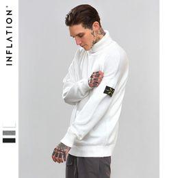 Maglioni preppy uomini online-maglione di cotone di colore solido del collare di colore solido di alta moda di marea di autunno e di inverno degli uomini di nuovo stile di modo casuale libero di trasporto