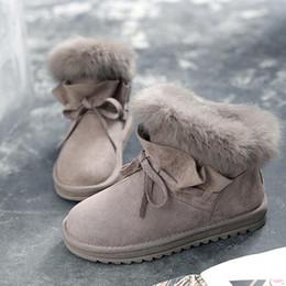 Conejo de pelo corto online-Lucky2019 Rabbit Snow Snow Leaf Calentador de zapatos Calidad 3 colores Franela Short Botas de fondo plano