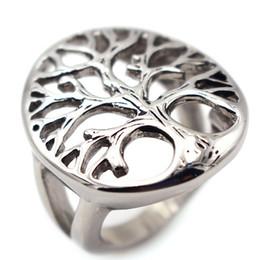 2019 anello di barretta Moda Uomo Anelli Alberi Forma Hollow Argento Placcato Anelli Knuckle Finger Ring Plant Anelli Biker Gioielli uomini regalo sconti anello di barretta