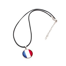 2019 bellissimi ciondoli eleganti Gioielli eleganti di modo del pendente della bandiera nazionale della Francia dell'acciaio inossidabile delle donne eleganti della collana per l'amico bellissimi ciondoli eleganti economici