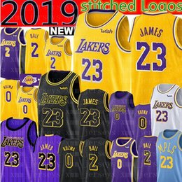 1180d17e430 2019 LeBron James 23 Lakers Jersey Los Angeles James Lakers Lonzo 2 Ball  Kyle 0 Kuzma Brandon 14 Ingram Basketball Jerseys 24 Kobe 8 Bryant