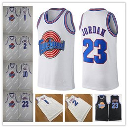 6aad87ab799a men s Movie Jersey 23 Michael 1 Bugs Bunny ! Taz 1 3 Tweety Space Jam Tune  Squad 22 Bill Murray 10 Lola 2 D.DUCK Basketball Jerseys