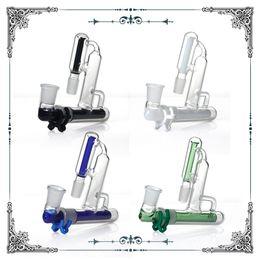 Tuyau recyclé en Ligne-Recycler le cendrier en verre 90 degrés 18.8mm joint Mix Ashcatchers pour Glass Pipes à eau bongs accessoires livraison gratuite