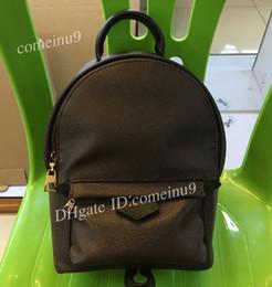 mochila de marca estilo estrella Rebajas Bolso de la mochila de Palm Springs para mujeres de calidad superior para niños Mochilas 41560 Bolso bandolera de cuero genuino Mini mochila