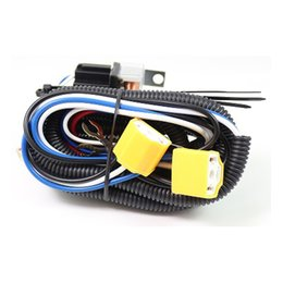 headlight harness Coupons - H4 Relay Harness Wire Halogen Ceramic Controller Socket Plugs Kit For Car Headlight Light Bulb Fix Dim Light