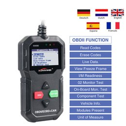 opel can Promo Codes - 2018 KW590 OBD2 Diagnostic Tools EOBD CAN Interface Code Readers For Honda Buick DHL FREE SHIPPING