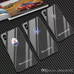 capas de espelhos de carbono Desconto Luxo motorsport amg tampa da fibra de carbono case para iphone 6 s plus 7 7 plus 8 8 plus x xr xs max vidro espelho telefone coque gtr para maserati