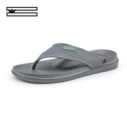 crust shoes Promo Codes - SHUANGGUN New Men Slippers Summer Thick Crust Men Sandals Non Slip Beach Shoes Male Tide Dragged Word Slippers Size 40~45