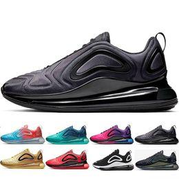 2019 scarpe casual scarpe in pelle pura Bred 720 Mens Running Shoes Università Verde elettrico Volt Aurora Cosmic lupo grigio Rosso psichici polvere Uomo Donna allenatore sportivo Sneakers
