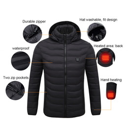 electric clothing Coupons - heating jacket winter smart USB electric heating constant temperature down jacket long sleeve hooded vest warm clothing