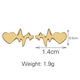 Canada Boucles d'oreilles pour ECG vendues en Europe et aux États-Unis, battement de coeur, ornements en forme de foudre, épingles Offre