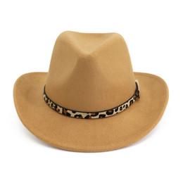 Boucle De Ceinture Imprimé Léopard De Mode Décoré Western Cowboy Chapeau Hommes Femmes Roll Brim Feutre De Laine Jazz Fedora Chapeaux Panama Sombrero ? partir de fabricateur