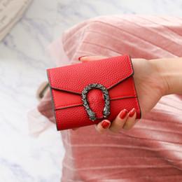 Sacchetto di carta coreano online-Portafoglio stile coreano donne retrò Designer pieghevoli Portafogli borsa corto PU Burse Fashion Girls Bag Pouch solido mini raccoglitore ID Card Holder Vendita
