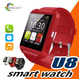 Armbanduhr iphone 5s online-U8 Bluetooth Smart Watch U Uhren Touch Wrist WristWatch Smartwatch für iPhone 4 4S 5 5S Samsung S4 S5 Hinweis 3 HTC Android Phone