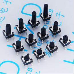 2019 lâmpada difusa led 20 PCS 4Pin 6 * 6 Micro Tact Interruptores de Botão MERGULHO 6x6x4.3 / 5/6/7/8/9/10/11/12/13/14/15 MM 4.3mm 5mm 6mm 7mm 8mm 9mm 10mm 11mm