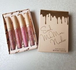 Labiales líquidos Cosméticos Enviarme más Nudes MATTE Liquid Lipstick Vacation Collection Velvet Matte Lip Gloss Kit 4pcs desde fabricantes