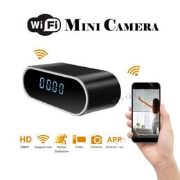 Reloj de tarjeta de video online-Wifi Reloj digital Cámara de video Videocámara Videocámara Full HD 1080P Noche Versión Videocámara Spycam Tarjeta profesional TF oculta