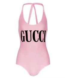 2019 swimsuit de franja de uma peça branca 2019 Hot sale gc Designer de moda Sling letra impressão Swimwear Bikini Para Mulheres Letra Maiô Bandage Sexy Banho de uma peça Terno S-XL
