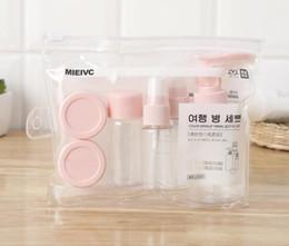 conjunto de botellas de crema de plástico Rebajas Mini maquillaje cosmético de viaje Conjunto de botellas de crema para la cara Crema de plástico Transparente Vacío Maquillaje Contenedor Botella Accesorios de viaje