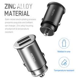 carregador de carro 4.8a Desconto Liga de zinco mini dual usb 4.8a carregador de carro de carregamento rápido para iphone xs xr 7 para huawei mate 20 pro samsung s9