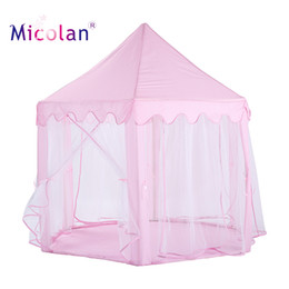 Niños grandes carpas interiores online-Abdl Adult Princess Kids Play Tent Large House Kids Castle Play Tent con niños Juegos de interior y al aire libre