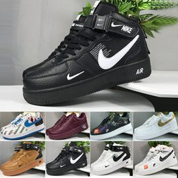 Argentina Nike air force 1 one off white Nuevo 1 Utility Classic Negro Blanco rojo Dunk Hombres Mujeres Zapatos para correr uno Deportes Skateboard High Low Cut Wheat Entrenadores zapatillas cheap mid cut running shoes Suministro