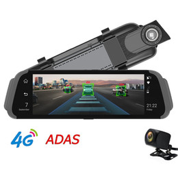 "russia car dvr Coupons - 10"" IPS Full Mirror Car DVR 4G Android GPS Navigator ADAS FHD 1080P RearView Mirror Camera Dual Lens Bluetooth G-sensor Online Tracking APP"