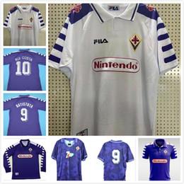2019 camisas de rugby da faculdade 92 93 98 99 Fiorentina Retro Soccer Jersey Gabriel Batistuta camisas do futebol 1992 1993 1998 1999 Batistuta Vintage uniformes de futebol Jersey