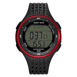 HFES Fitness Sport Smart Watch Cardiofrequenzimetro a polso cardiofrequenzimetro Colore: rosso / nero cheap pulse strap da cinghia a impulsi fornitori