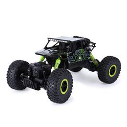 Auto di bigfoot rc online-Vendita calda Rc Car 2 .4ghz 4wd 1/18 4 ruote motrici Rock Crawler Rally Car 4x4 motori doppi Bigfoot Car Off-Road Giocattoli del veicolo