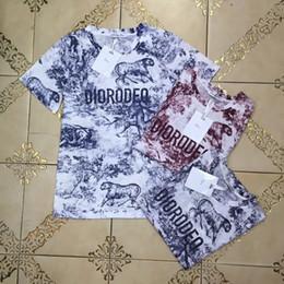 Mujeres seda online-Ropa de mujer Impresión de letras Manga corta Camisetas de seda Camisetas de diseñador