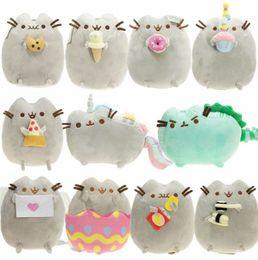 животные киски Скидка 2019 Каваи Brinquedos кошка суши Ангел печенье картофельные чипсы пончик мягкие плюшевые животные милая Киска Рождественский подарок игрушки для девочек