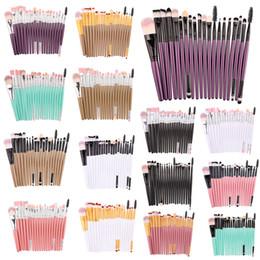 20 ADET profesyonel Göz makyaj fırça seti göz farı eyeliner dudak Uzun Sap Makyaj fırça seti çok renkli nereden