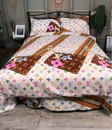 2019 conjuntos de cama florais Conjuntos de cama de luxo designer rei ou rainha conjuntos de cama conjuntos de cama 4 pcs consolador de cama de luxo edredons conjuntos conjuntos de cama florais barato