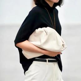 bolso redondo de cuero Rebajas Monederos Forma vaca bolsa de cuero real del sobre del bolso, carteras, bolsos de diseñador de las mujeres voluminosas redondeadas y bolsos Embragues
